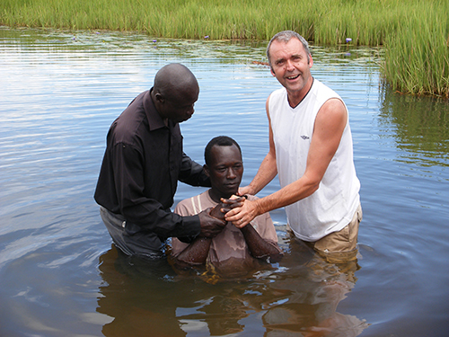 Ken Baptising New Believers In Uganda