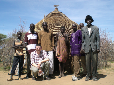 Simon With Sudanese Villagers